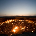 The Gates of Hell Burn Brightly at the Darvaza Gas Crater